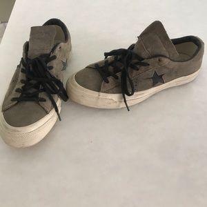 Brown converse sneakers